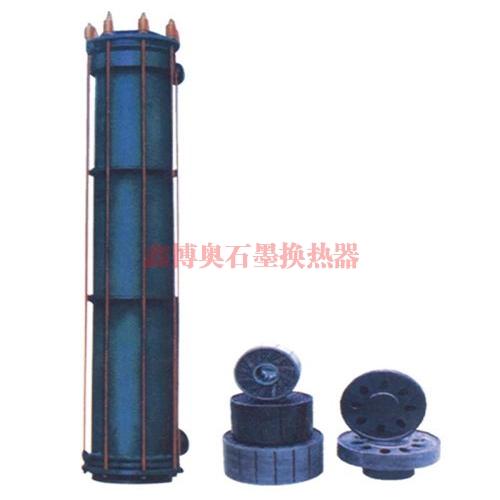 YKX型圆块孔式石墨降膜吸收器